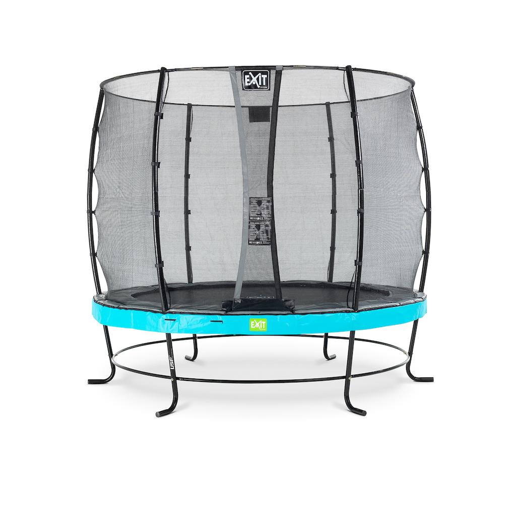 EXIT Trampoline élégant ø253cm avec filet de sécurité EcoNeemy - bleu