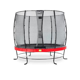 EXIT Elegant trampoline ø253cm met Economy veiligheidsnet- rood