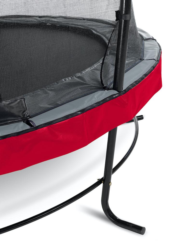 EXIT Trampoline élégant ø253cm avec filet de sécurité EcoNeemy - rouge