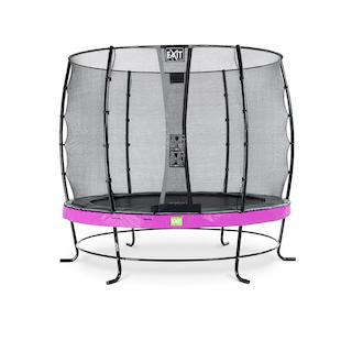 EXIT Elegant trampoline ø253cm met Economy veiligheidsnet- paars