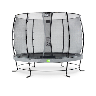 EXIT Elegant trampoline ø305cm met Economy veiligheidsnet- grijs