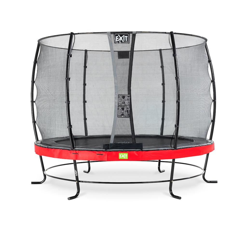 EXIT Elegant trampoline ø305cm met Economy veiligheidsnet- rood