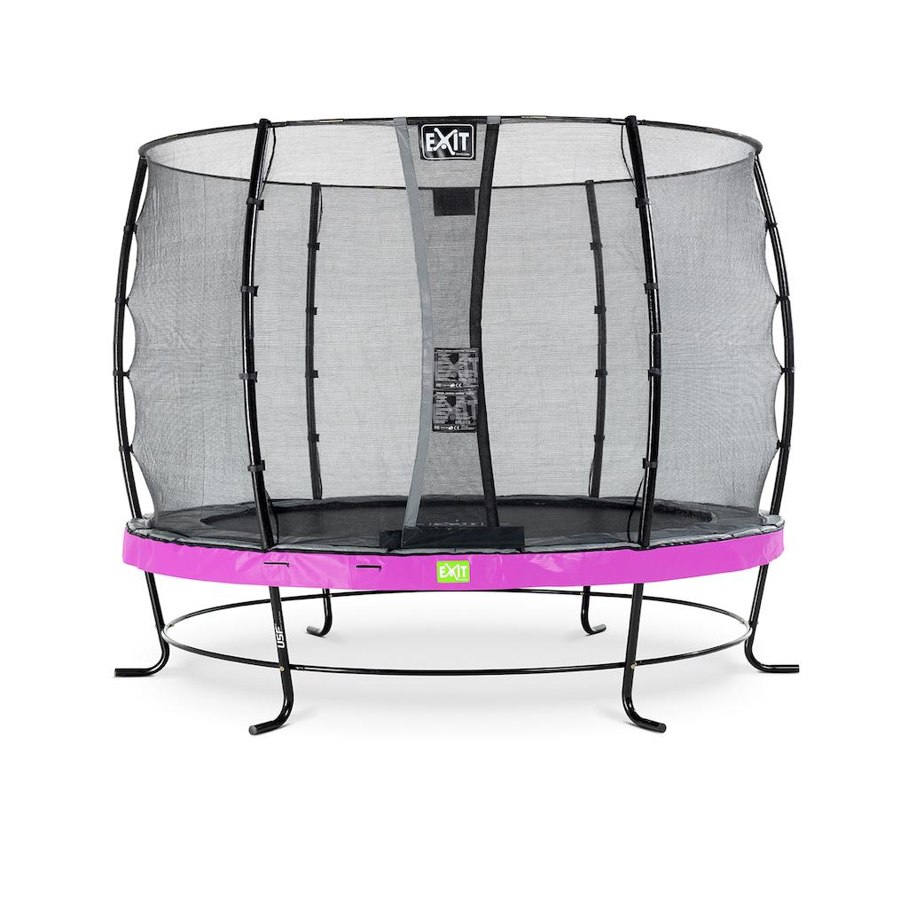 EXIT Elegant trampoline ø305cm met Economy veiligheidsnet- paars