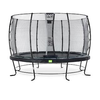 EXIT Elegant trampoline ø366cm met Economy veiligheidsnet- zwart