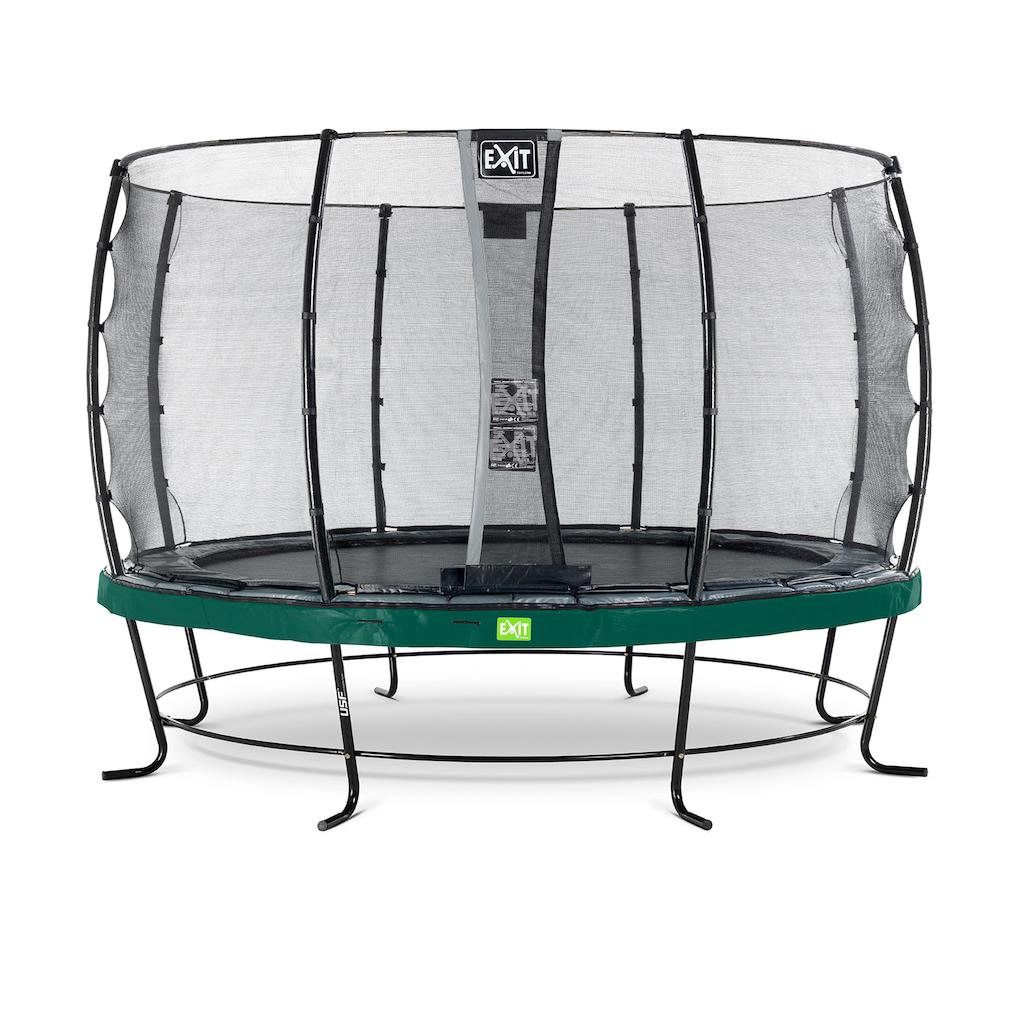 EXIT Elegant trampoline ø366cm met Economy veiligheidsnet- groen
