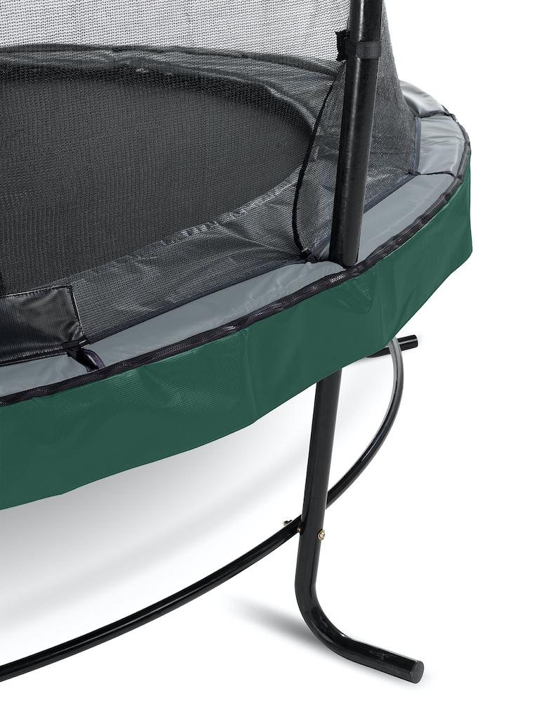 EXIT Trampoline élégant ø366cm avec filet de sécurité EcoNeemy - vert