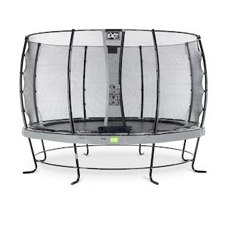 EXIT Elegant trampoline ø366cm met Economy veiligheidsnet- grijs