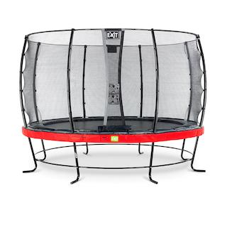 EXIT Elegant trampoline ø366cm met Economy veiligheidsnet- rood