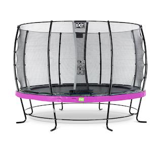 EXIT Elegant trampoline ø366cm met Economy veiligheidsnet- paars