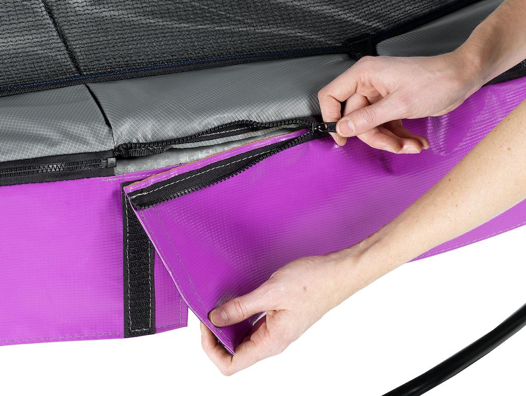EXIT Trampoline élégant ø366cm avec filet de sécurité EcoNeemy - violet