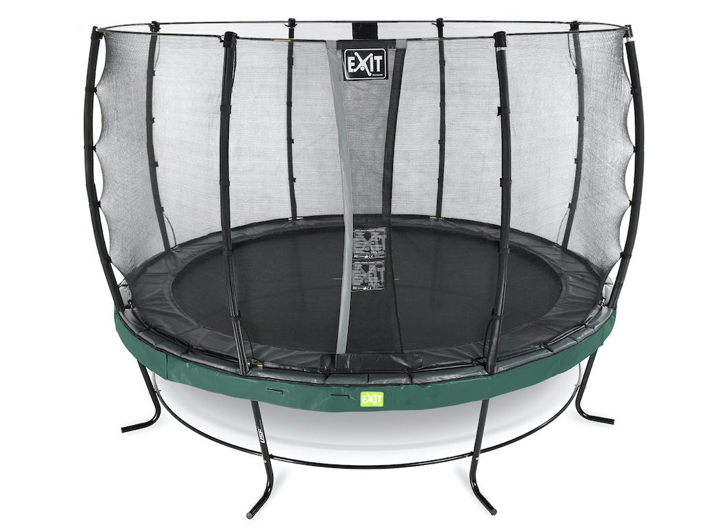 EXIT Elegant trampoline ø427cm met Economy veiligheidsnet- groen