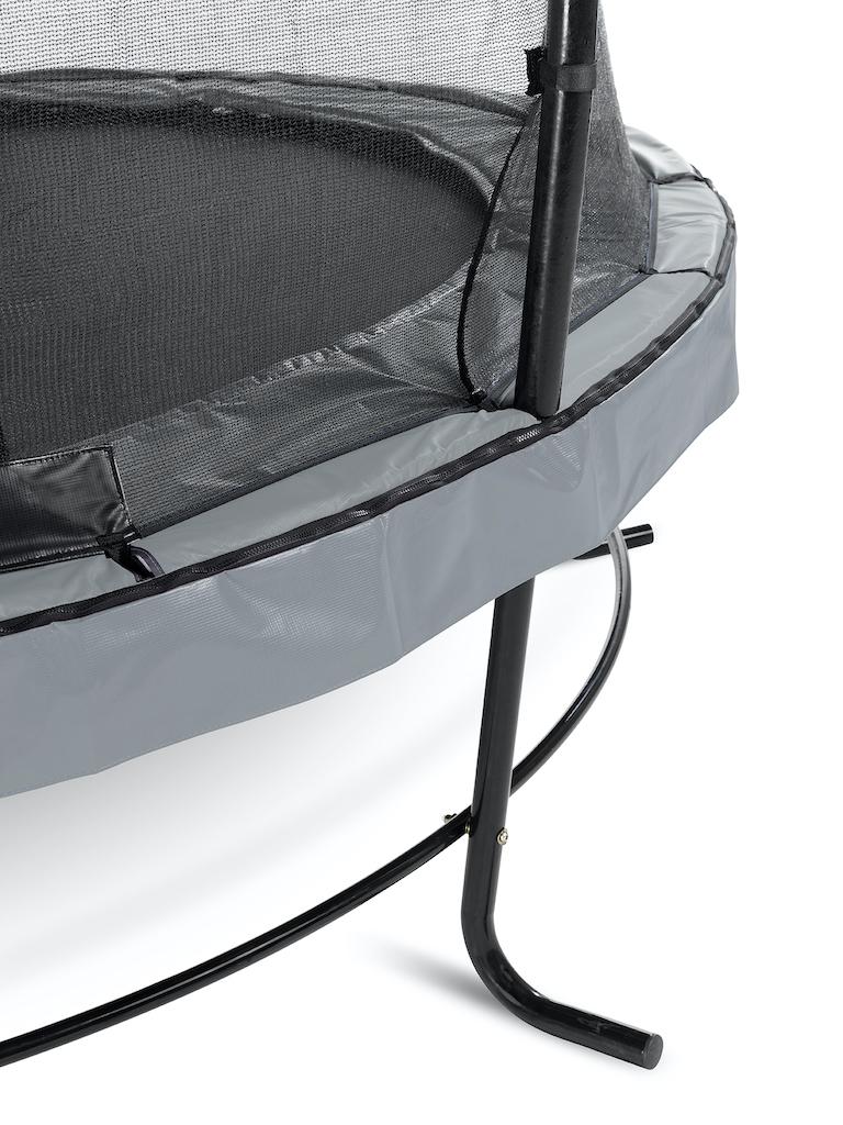 EXIT Elegant trampoline ø427cm met Economy veiligheidsnet- grijs