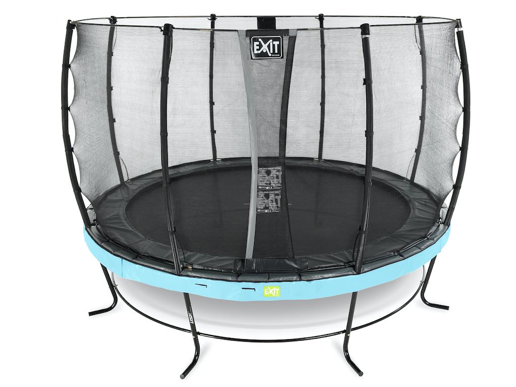 EXIT Elegant trampoline ø427cm met Economy veiligheidsnet- blauw