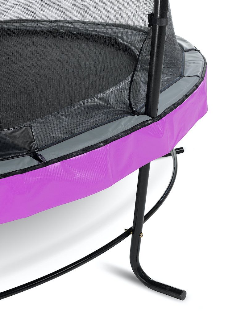 EXIT Elegant trampoline ø427cm met Economy veiligheidsnet- paars