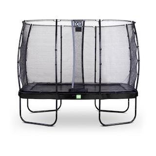 EXIT Elegant trampoline 214x366cm met Economy veiligheidsnet- zwart