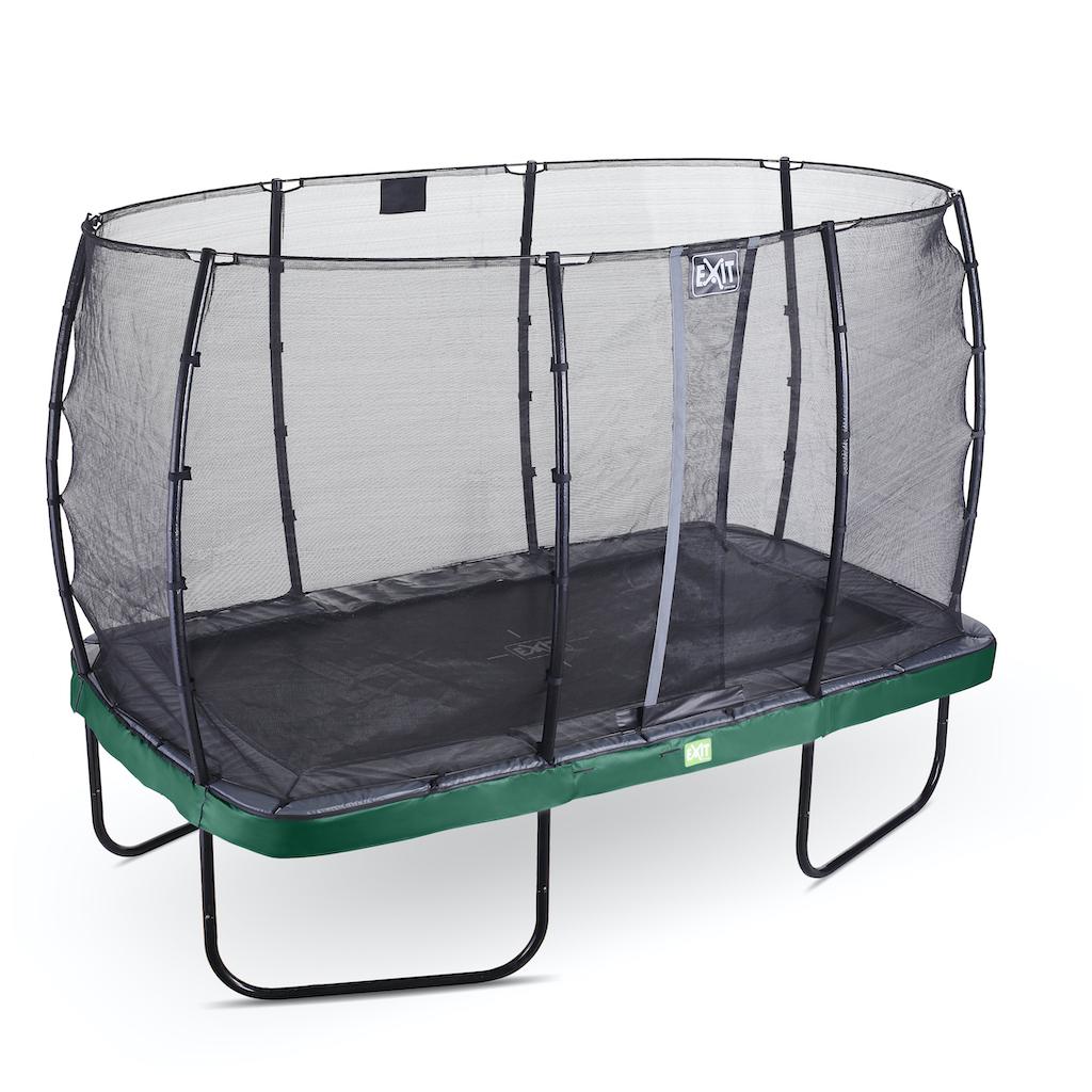 EXIT Elegant trampoline 214x366cm met Economy veiligheidsnet- groen