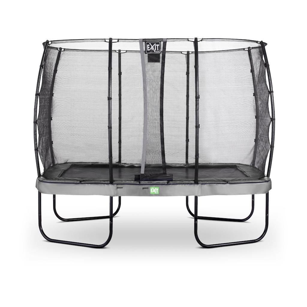 EXIT Elegant trampoline 214x366cm met Economy veiligheidsnet- grijs