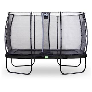 EXIT Elegant trampoline 244x427cm met Economy veiligheidsnet- zwart