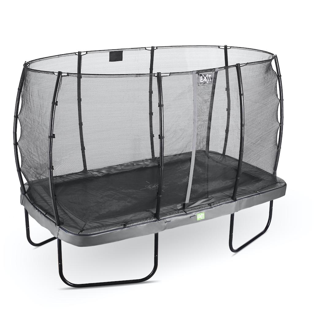 EXIT Elegant trampoline 244x427cm met Economy veiligheidsnet- grijs