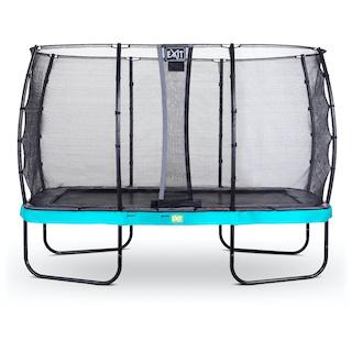 EXIT Elegant trampoline 244x427cm met Economy veiligheidsnet- blauw