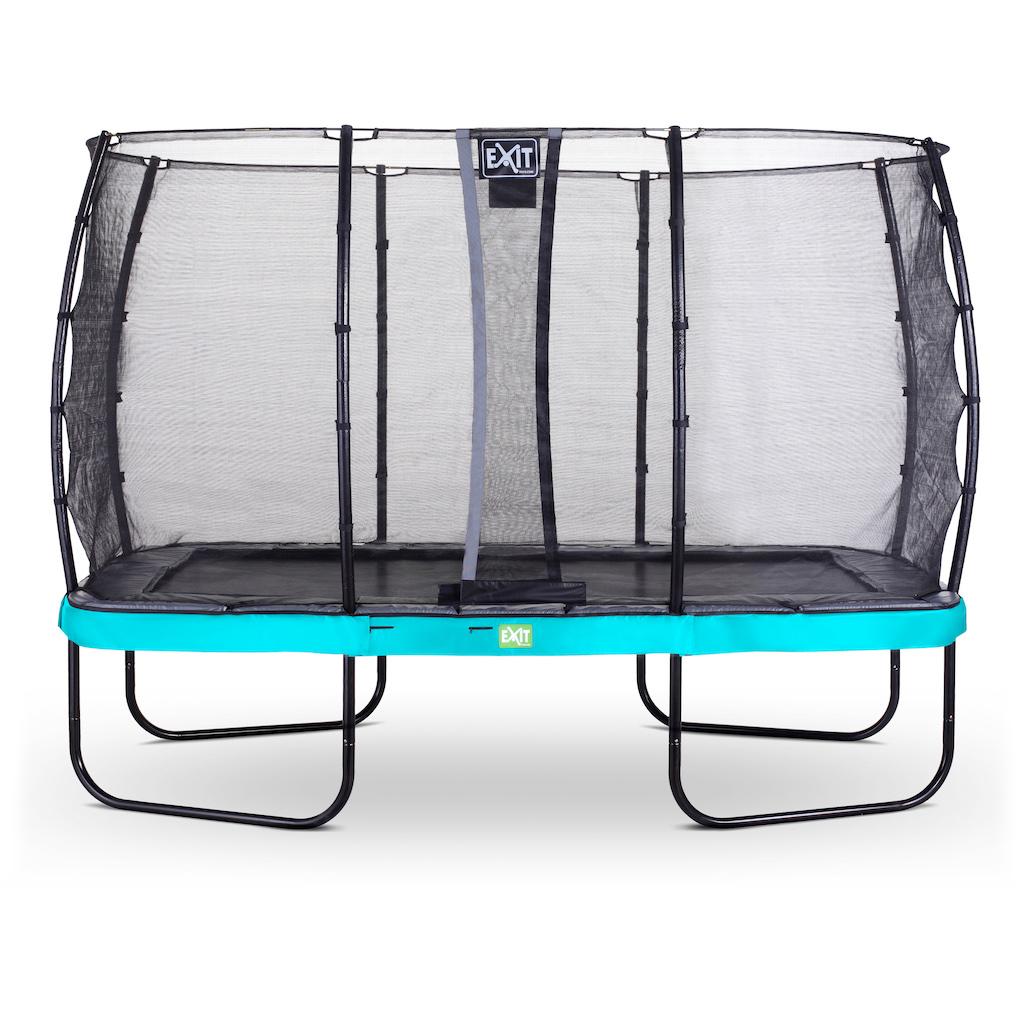 EXIT Trampoline élégant 244x427cm avec filet de sécurité EcoNeemy - bleu