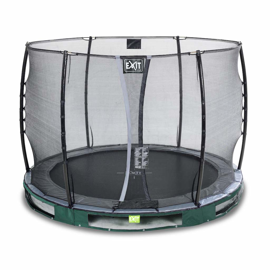 EXIT Elegant inground trampoline ø305cm met Economy veiligheidsnet- groen
