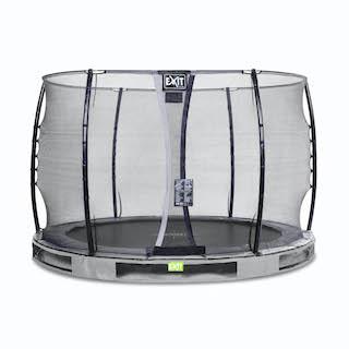 EXIT Elegant inground trampoline ø305cm met Economy veiligheidsnet- grijs