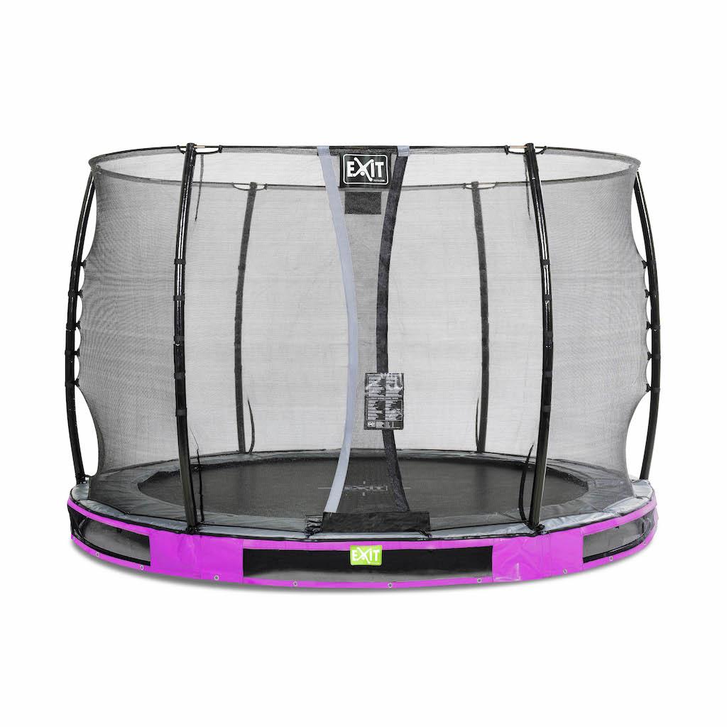 EXIT Elegant inground trampoline ø305cm met Economy veiligheidsnet- paars