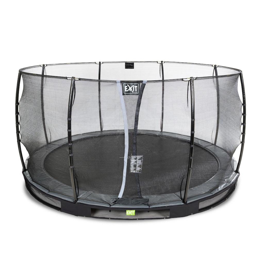 EXIT Elegant inground trampoline ø366cm met Economy veiligheidsnet- zwart