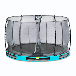 EXIT Elegant inground trampoline ø366cm met Economy veiligheidsnet- blauw