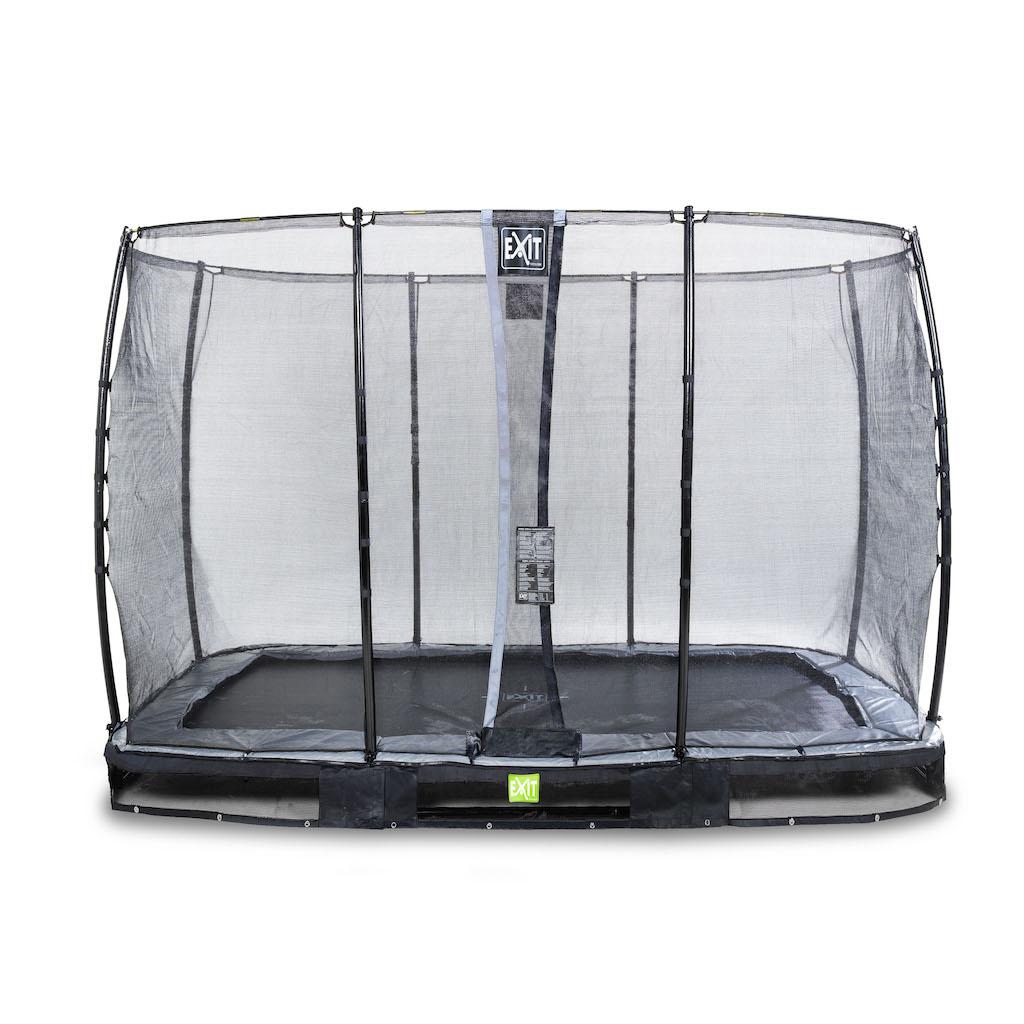 EXIT Elegant inground trampoline 214x366cm met Economy veiligheidsnet- zwart