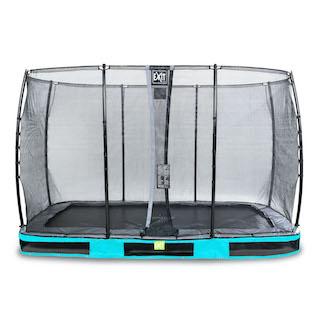 EXIT Elegant inground trampoline 244x427cm met Economy veiligheidsnet- blauw
