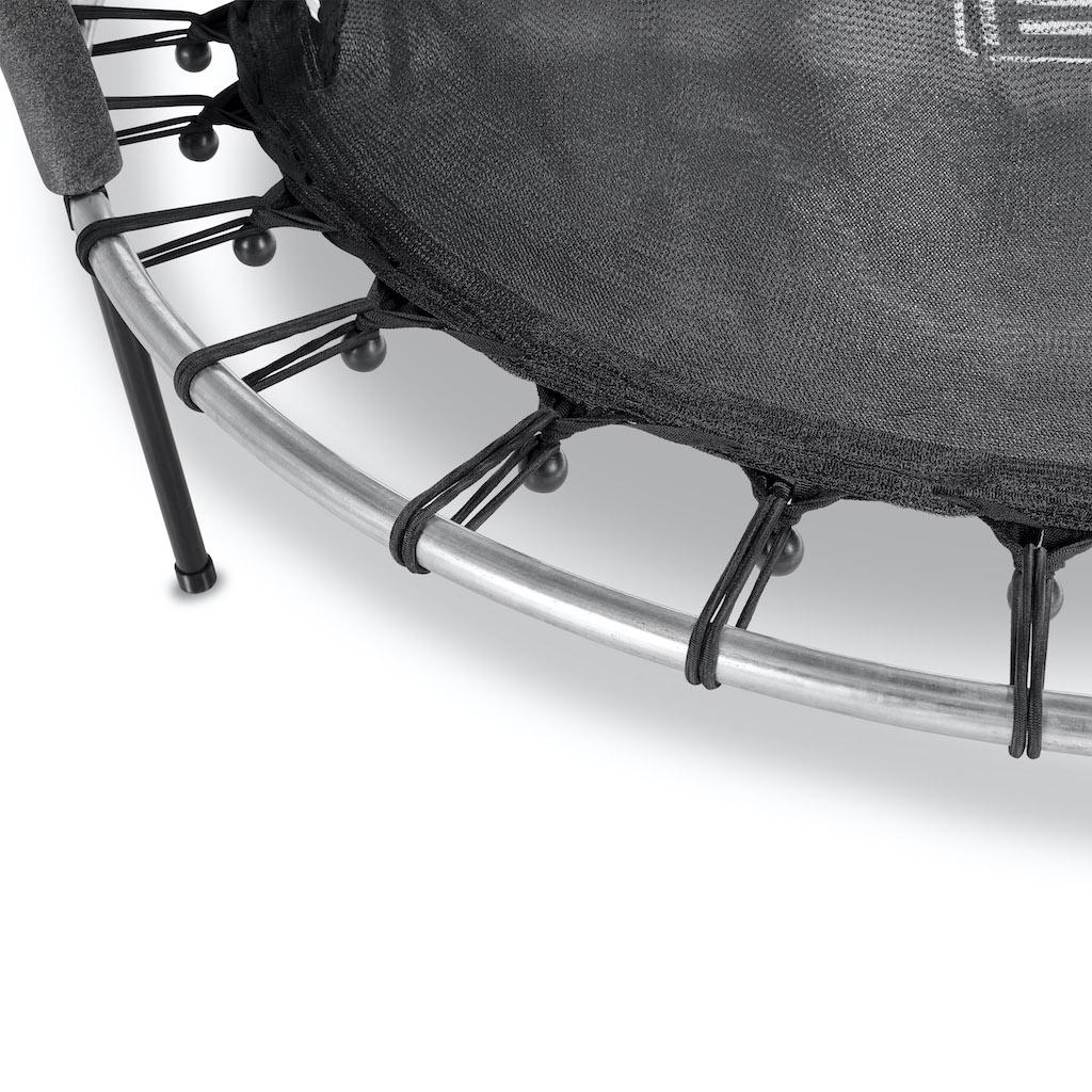 Trampoline EXIT Tiggy junior avec filet de sécuritéø140cm - noir / gris