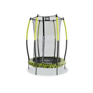 EXIT Tiggy junior trampoline met veiligheidsnetø140cm - zwart/groen