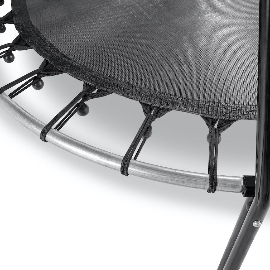 Trampoline EXIT Tiggy junior avec support ø140cm - noir / vert