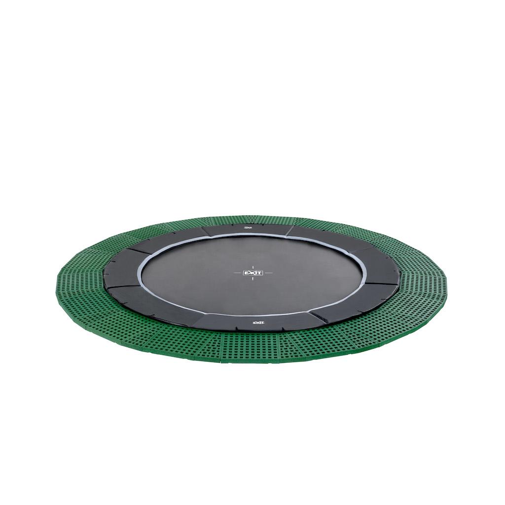 EXIT Dynamic groundlevel trampoline ø305cm met Freezone veiligheidstegels - zwart
