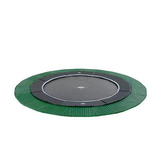 EXIT Dynamic groundlevel trampoline ø366cm met Freezone veiligheidstegels - zwart