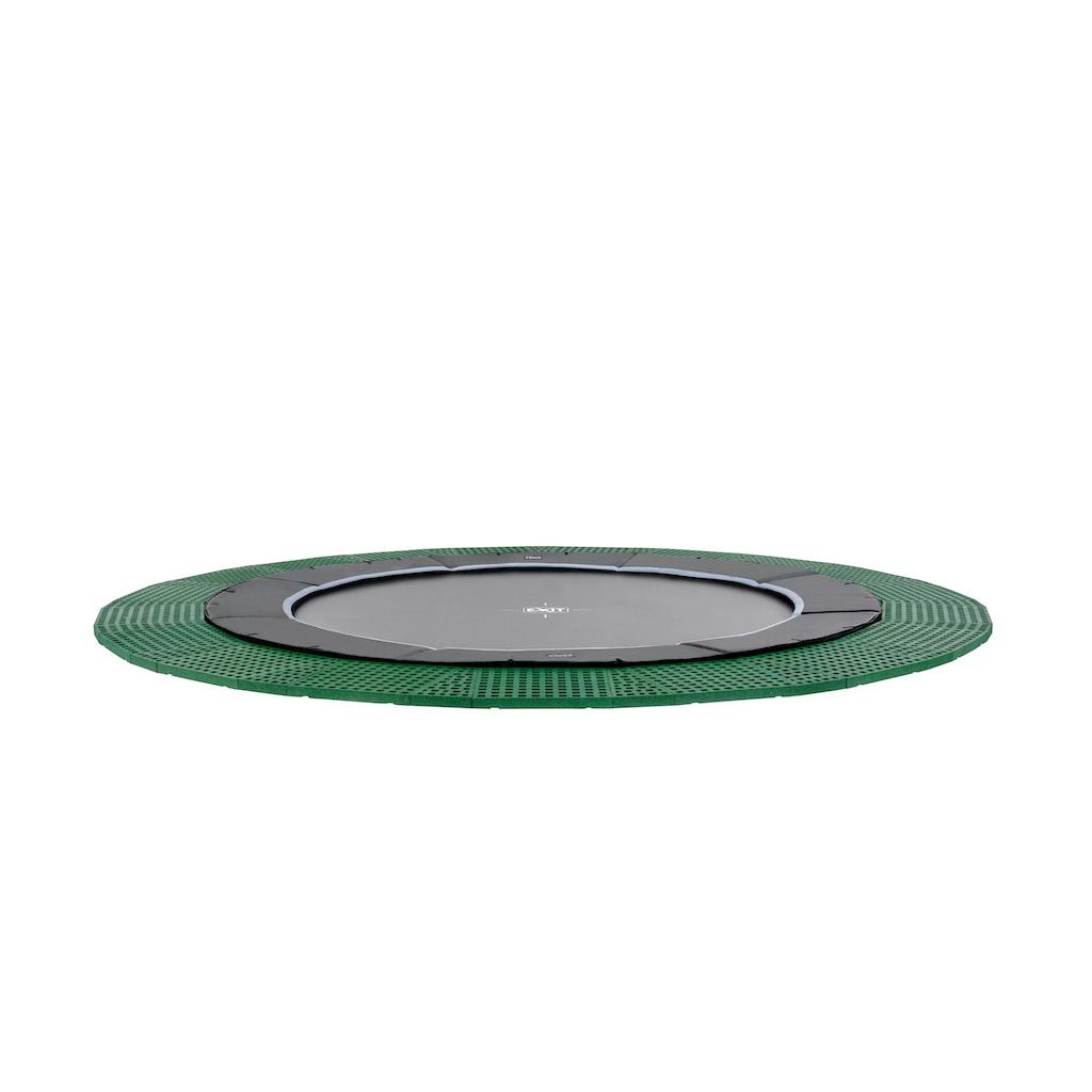 EXIT Trampoline au sol dynamique Ø366cm avec dalles de sécurité Freezone - noir