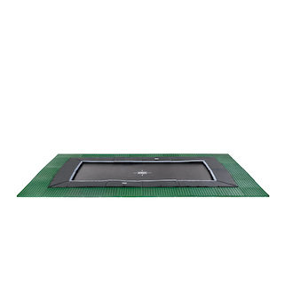 EXIT Dynamic groundlevel trampoline 275x458cm met Freezone veiligheidstegels - zwart