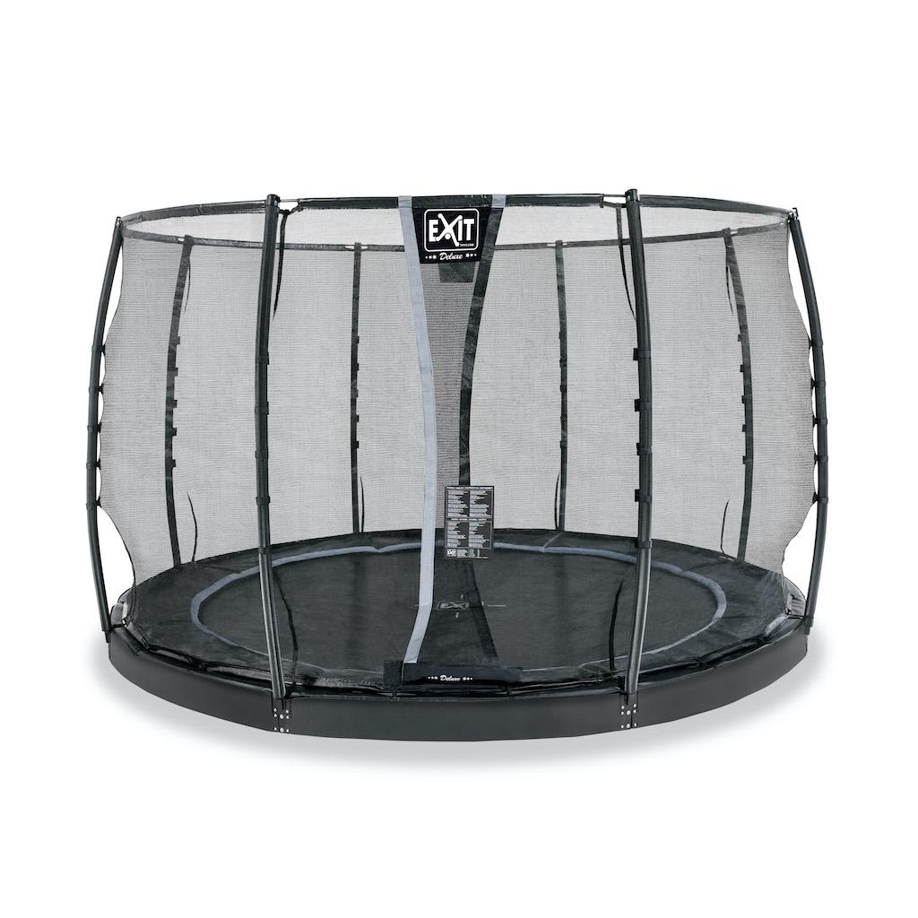 EXIT Trampoline au sol dynamique ø305cm avec filet de sécurité - noir
