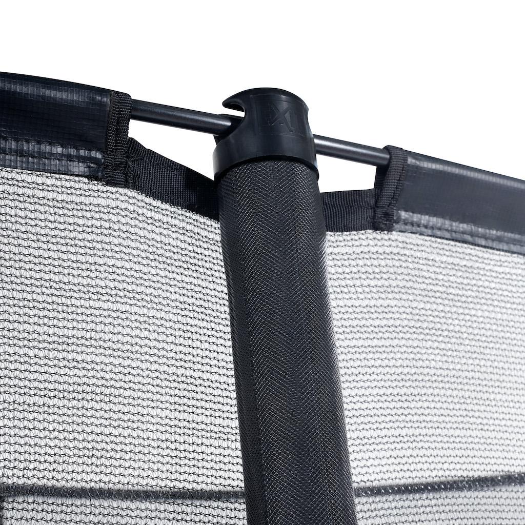 EXIT Trampoline au sol dynamique ø427cm avec filet de sécurité - noir