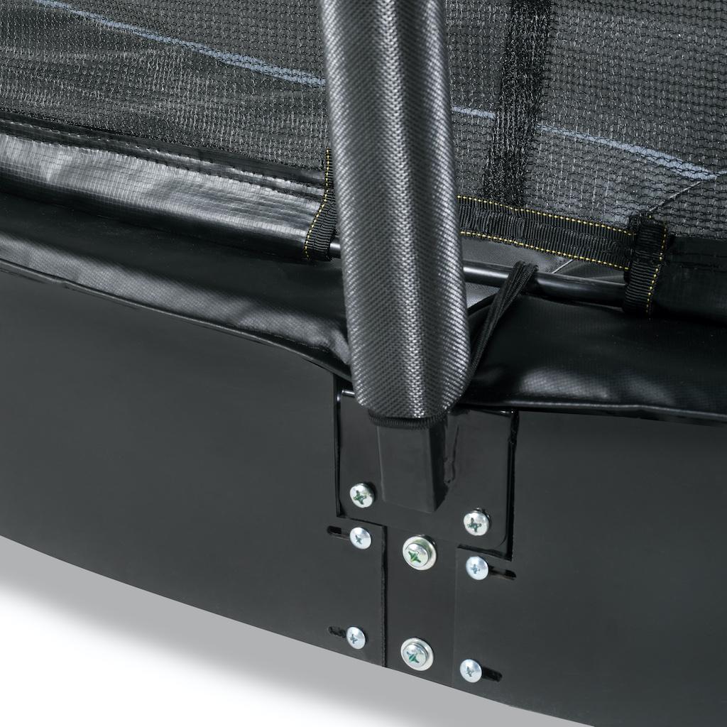 EXIT Trampoline au niveau du sol dynamique 244x427cm avec filet de sécurité - noir