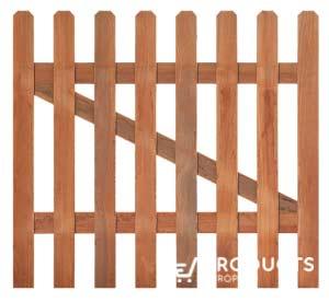 <BIG><B>Porte droite pour clôture de jardin en bois dur H90xL100cm</B></BIG>