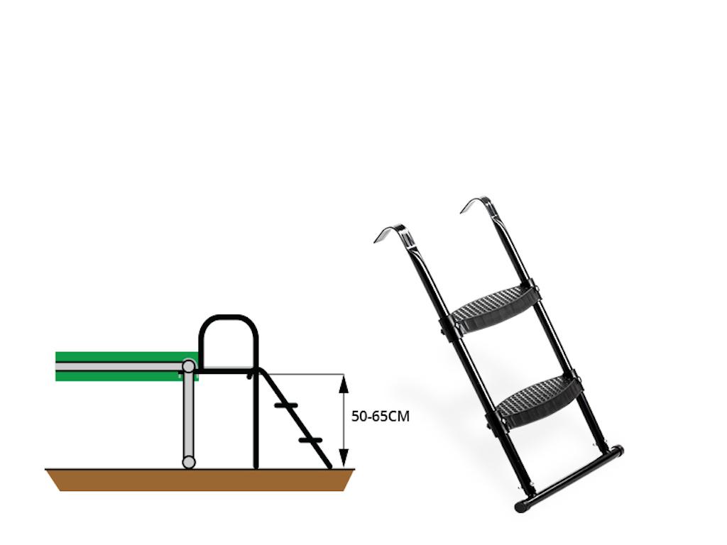 EXIT Trampoline ladder voor Framehoogte:  van 50-65cm