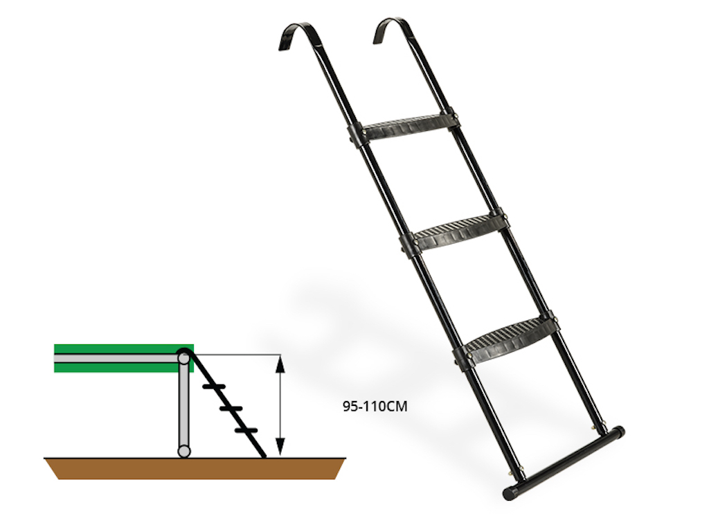 EXIT Trampoline ladder voor Framehoogte:  van 95-110cm