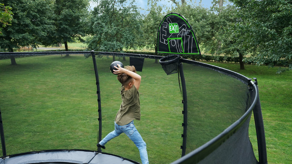 EXIT Trampoline basket with foam ball Basketbalring voor trampolines