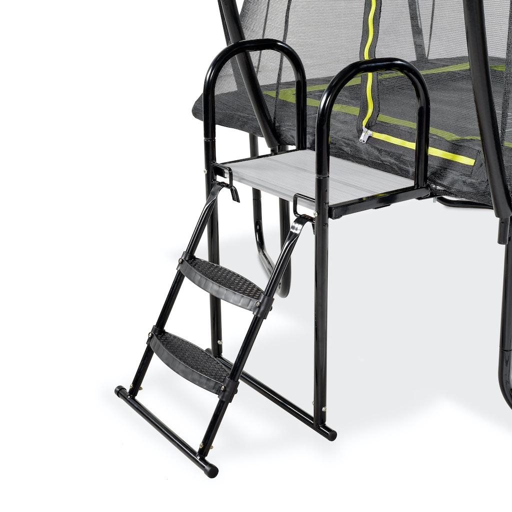 EXIT Plateforme de trampoline avec échelle pour hauteur de cadre: de 65 à 80 cm