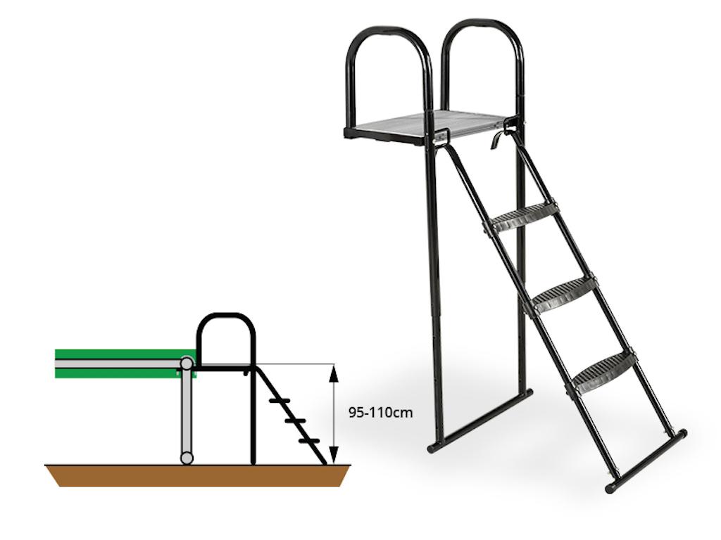 EXIT Trampoline platform met ladder voor Framehoogte:  van 95-110cm