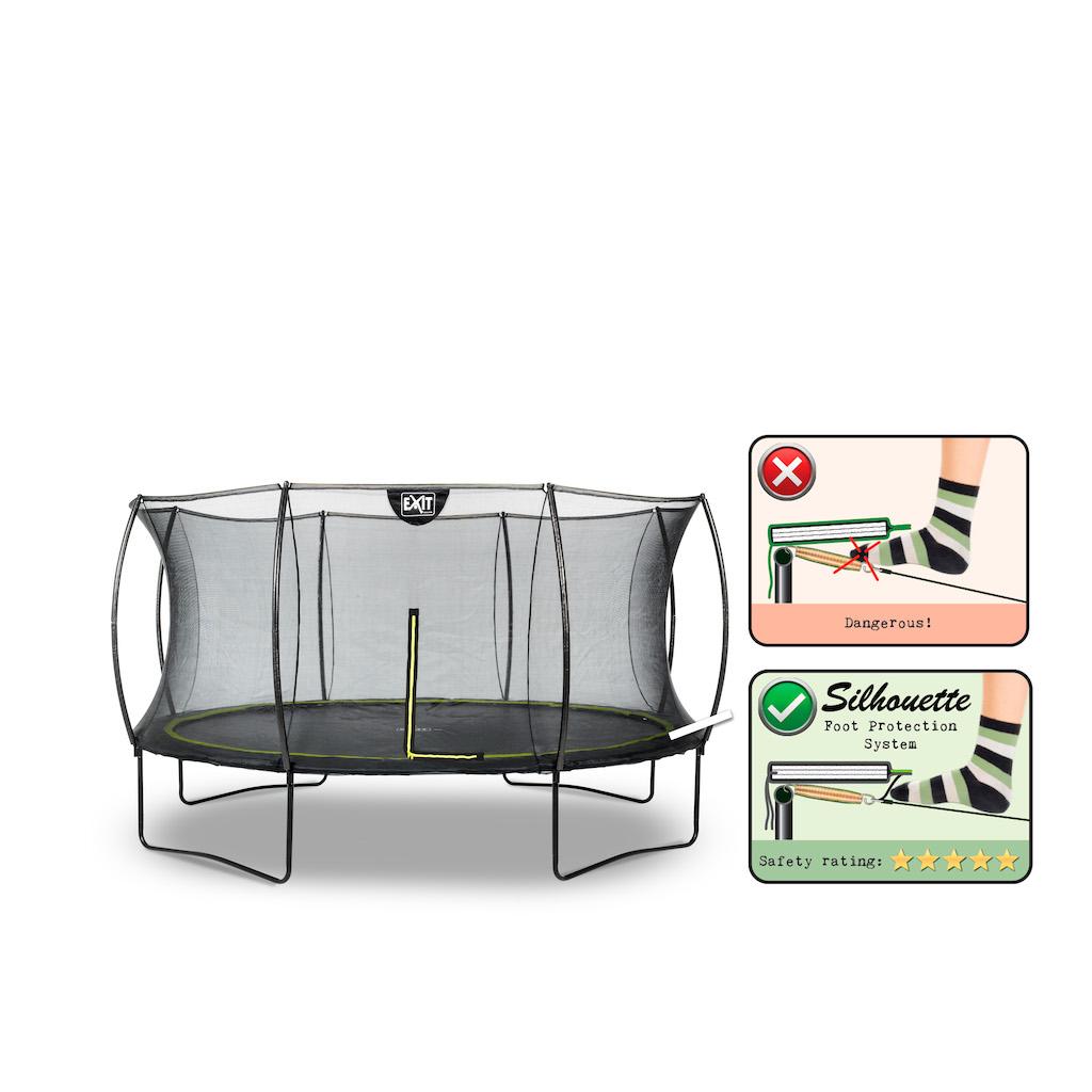EXIT Silhouette trampoline ø427cm - zwart