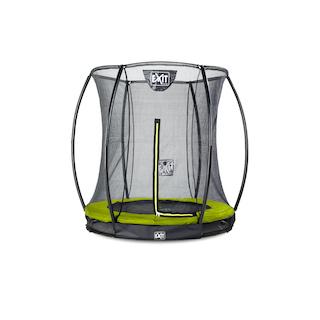 EXIT Silhouette inground trampoline ø183cm met veiligheidsnet- groen